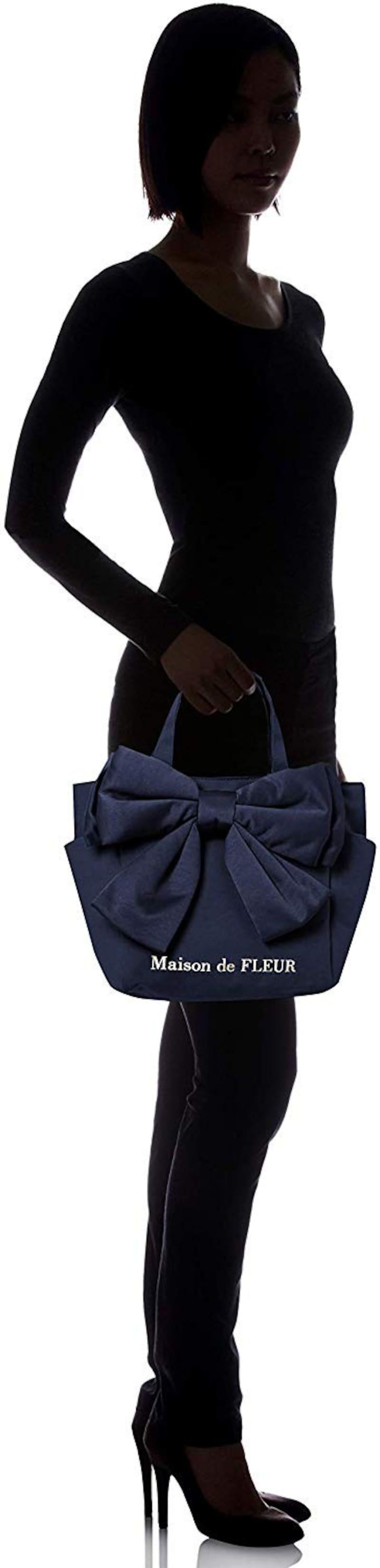 Maison de FLEUR(メゾンドフルール),ビックリボンSトートバッグ,8A93F0J2400