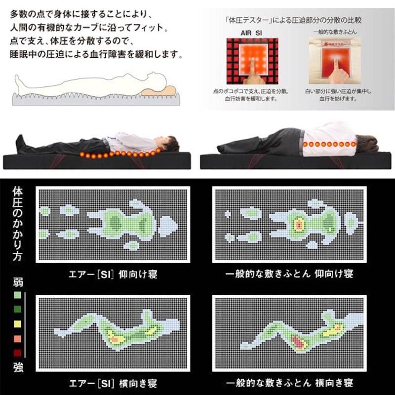 西川,エアー[SI]ベッドマットレス,Air-si-Bed-Mattress-S
