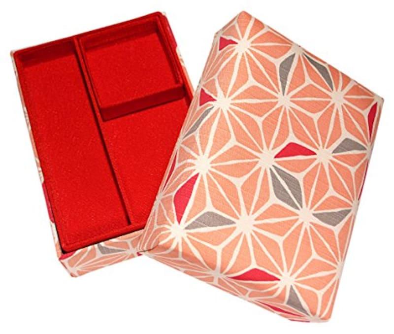 京都 洛~伝統となごみの和雑貨,掛け子付 お裁縫箱 麻の葉, SH-103