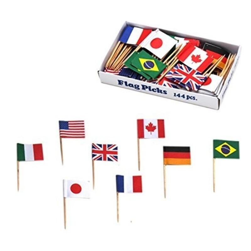 ヤマコー,フラッグピック万国旗 各国混合 144本入,QBV05