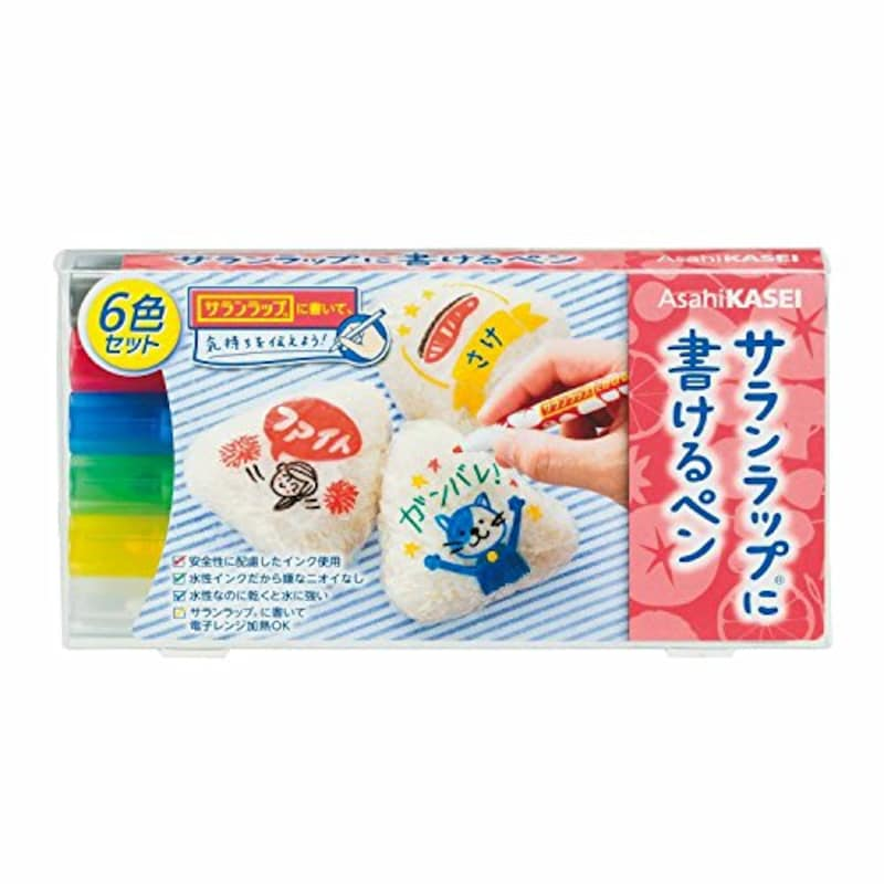 旭化成ホームプロダクツ,サランラップに書けるペン 6色セット