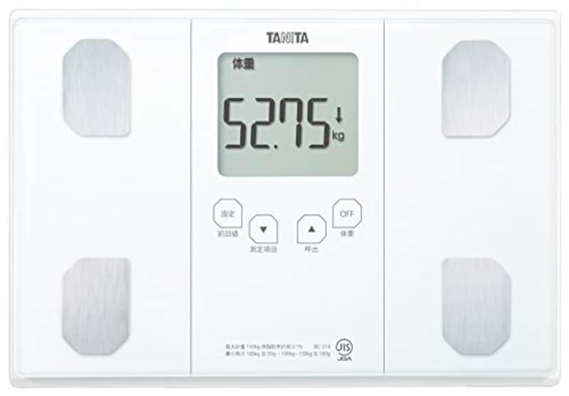 タニタ,自動認識機能付き体組成計,BC-314-WH