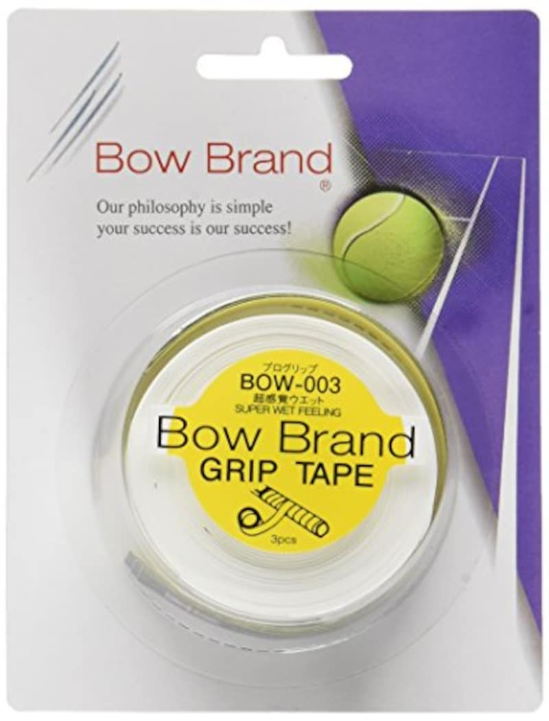 ボウブランド(BOWBRAND),グリップテープ プログリップ(スーパーウェット 3本巻),BOW003