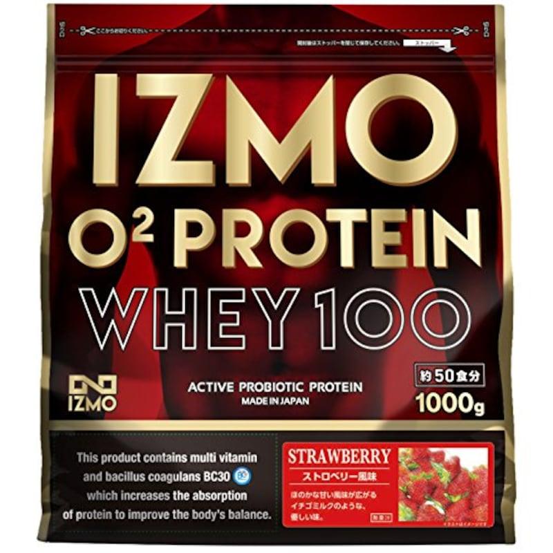 IZMO,O2 プロテインホエイ100 ストロベリー風味