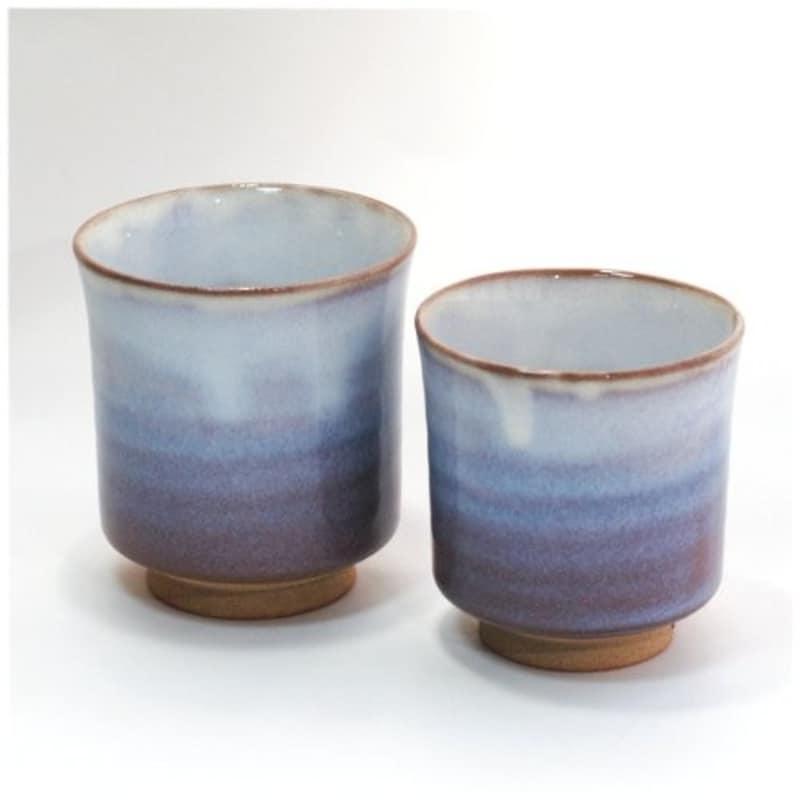 萩焼 萩紫夫婦湯呑