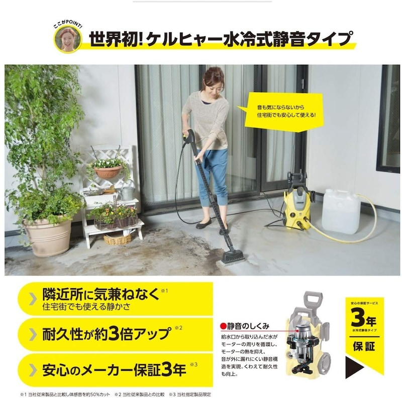 ケルヒャー,高圧洗浄機 K3    東日本 50Hz専用