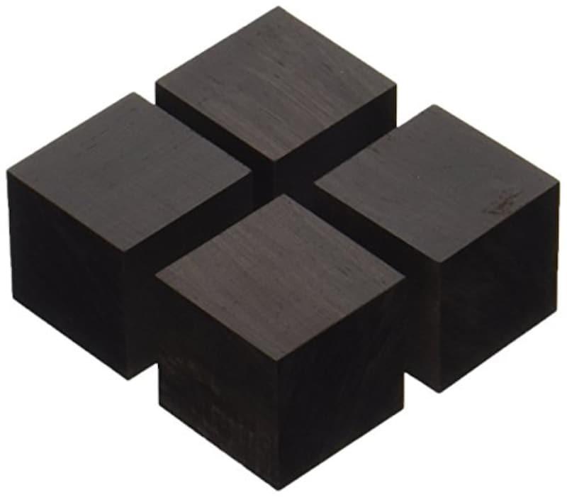 山本音響工芸,キューブベースアフリカ黒檀材(4個1組),QB-3