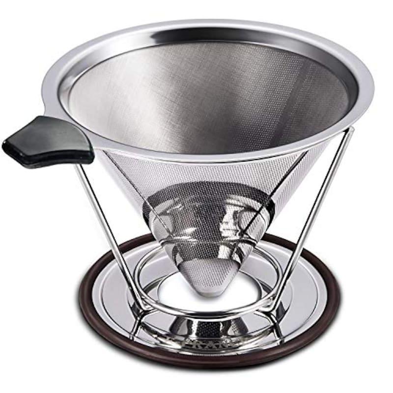KCOOL,W-ingstar コーヒーフィルター コーヒードリッパー ステンレス製