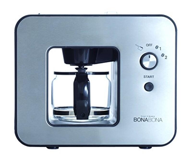 シーシーピー(CCP),全自動ミル付きコーヒーメーカー,BZ-MC81-BK