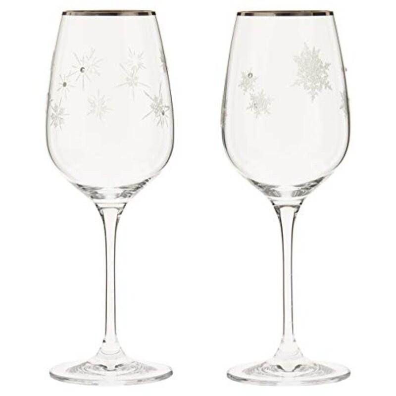 NARUMI,ワイングラス スノー&スター,GW4065-63393A