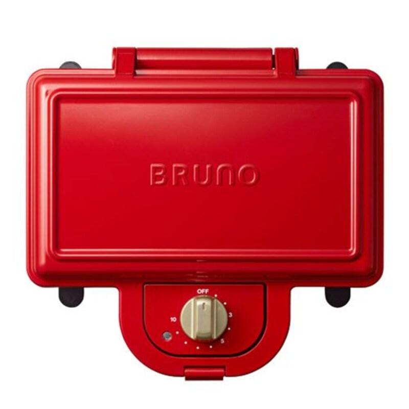 BRUNO,耳まで焼けるホットサンドメーカー,BOE044-RD