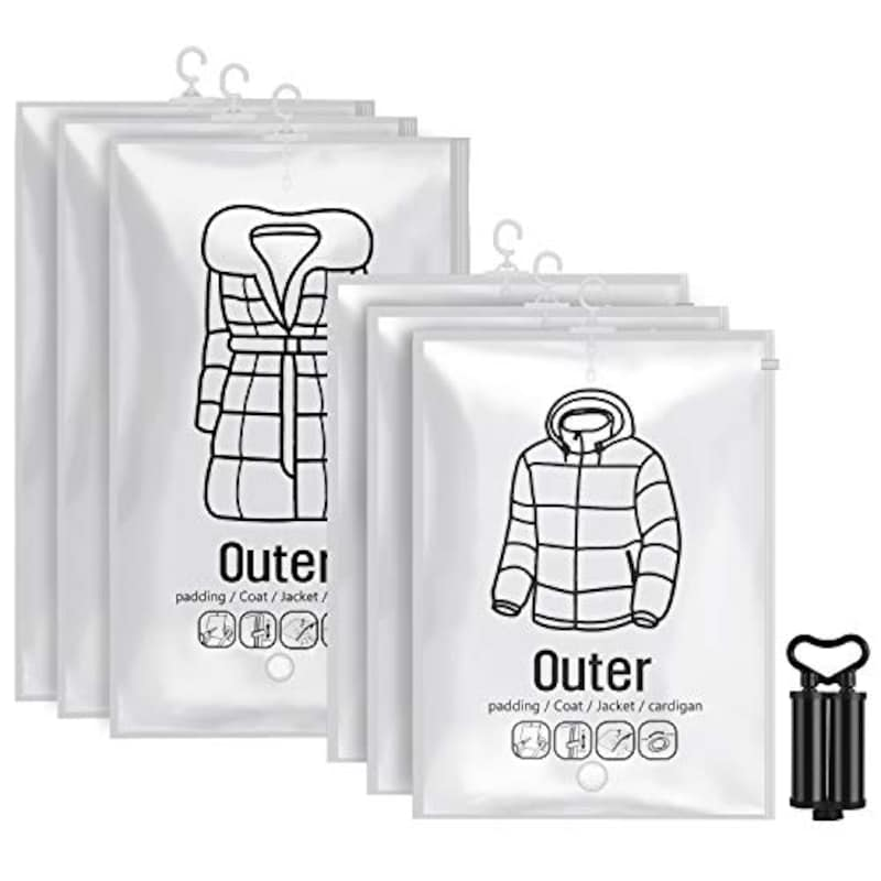 OTraki ,吊るせる衣類圧縮袋 (6枚セット),OTraki_GARMENT_BAG_6SET