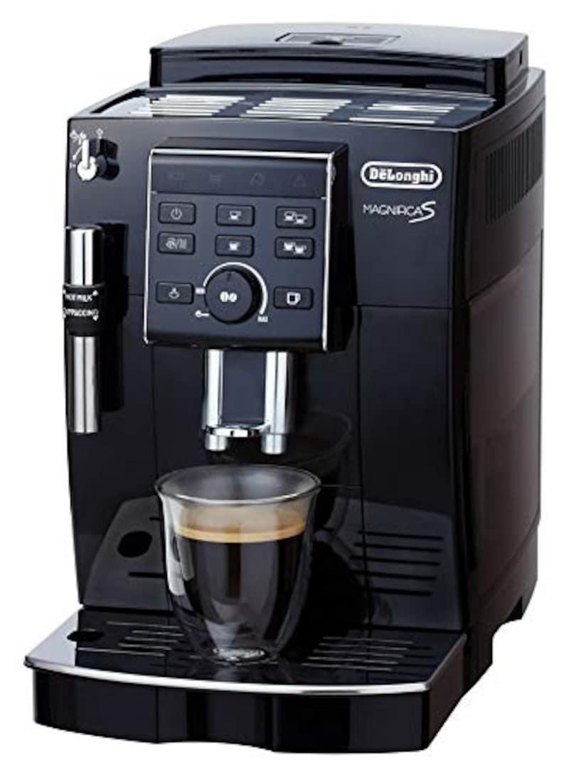 デロンギ,コンパクト全自動コーヒーマシン マグニフィカS ブラック,ECAM23120BN