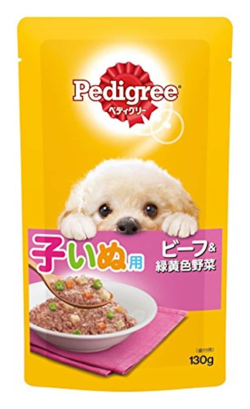 ペディグリー,子犬用 ビーフ&緑黄色野菜