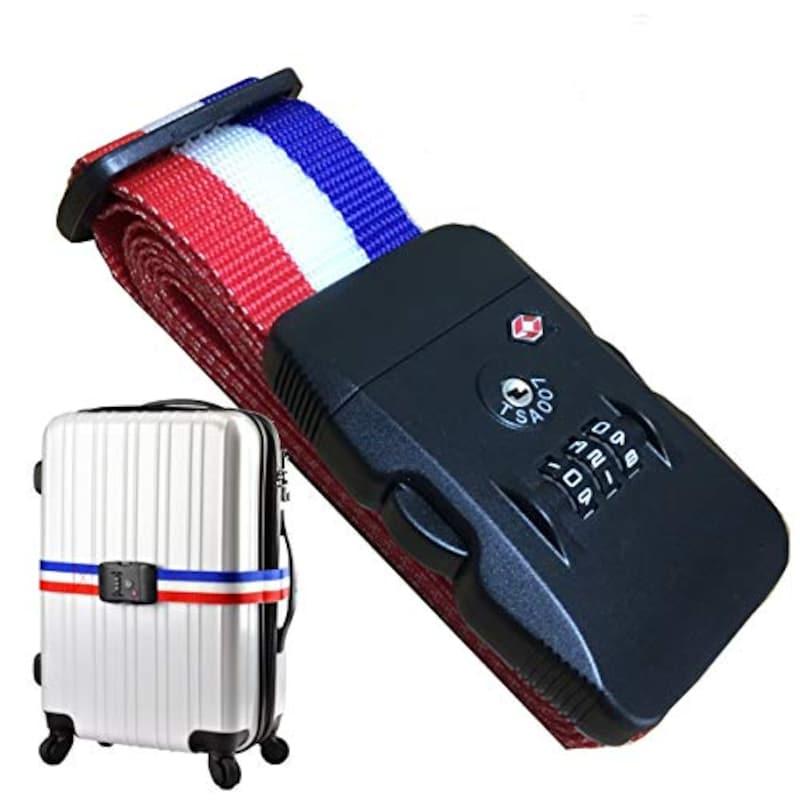 TRAVELGATE(トラベル ゲート),TSAロックTSAベルトスーツケース,JA#1001