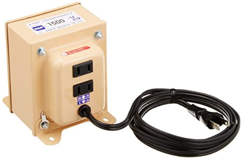 日章工業,変圧器 海外 普及型,NDF-1500U