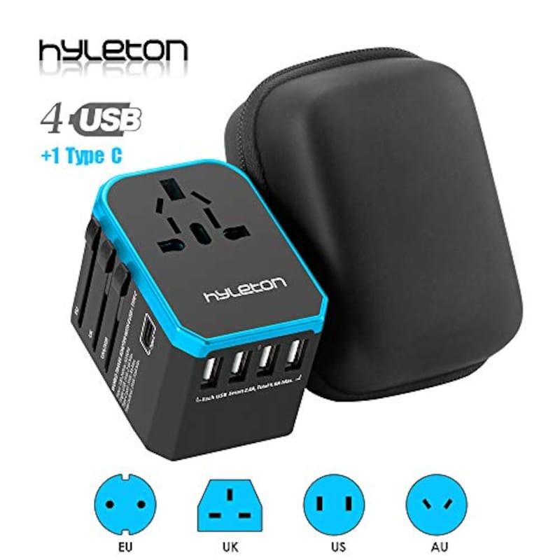 Hyleton(ヒルトン),全世界対応海外旅行変換プラグ