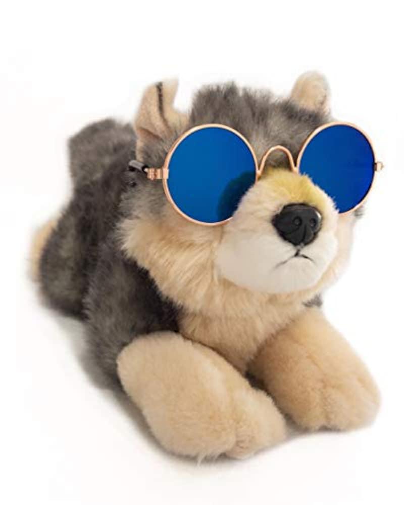 twoPa, 犬用サングラス 丸眼鏡 UVカット対応