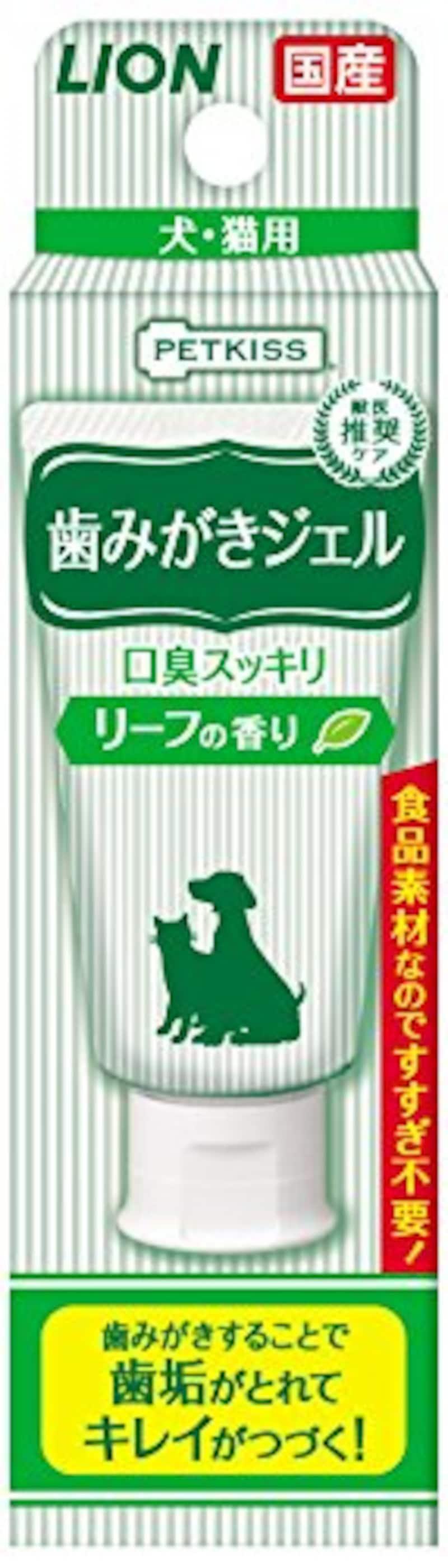 LION(ライオン),PETKISS 歯みがきジェル リーフの香り,500876