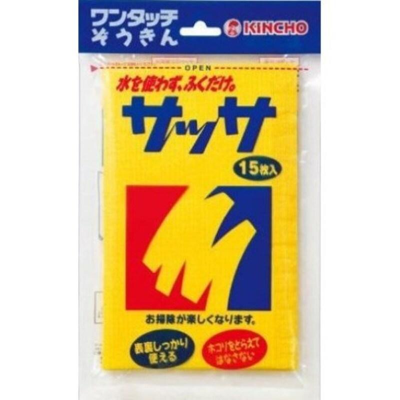 KINCHO(キンチョー),サッサ ホコリ取りクロス ドライシート 15枚入