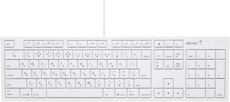 BUFFALO(バッファロー),iBUFFALO フルキーボード,BSKBM01WH