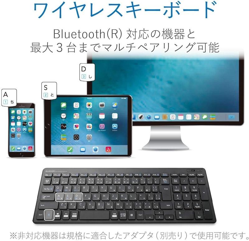 ELECOM(エレコム),キーボード Bluetooth テンキー付き,TK-FBP101BK