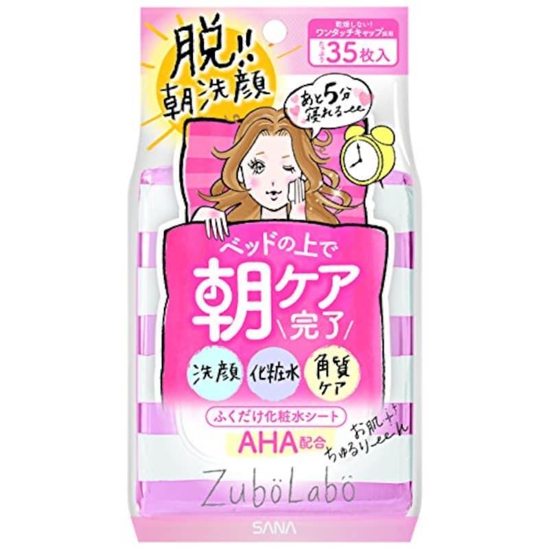 ズボラボ,朝用ふき取り化粧水シート 35枚