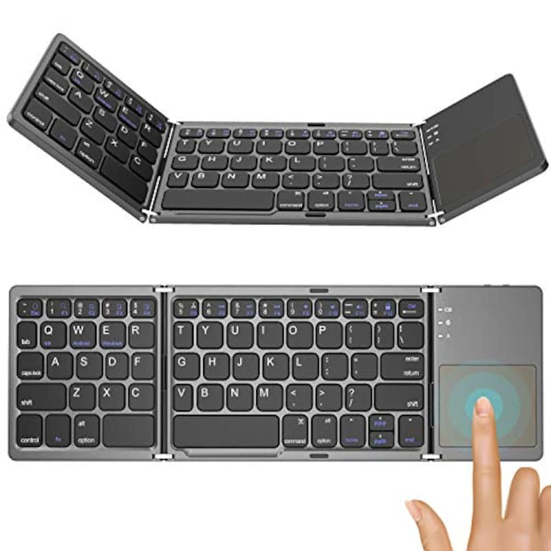 Jekeno,タッチパッド搭載 ワイヤレスキーボード