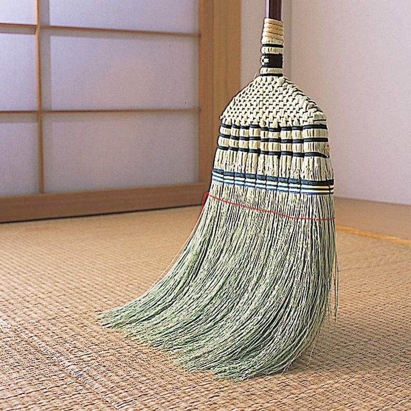 アズマ,室内用ほうき 手編みホーキ特撰 全長134cm
