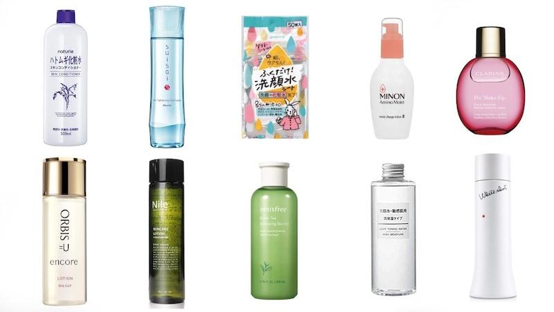 化粧水のおすすめ人気ランキング40選と効果的な使い方|拭き取りタイプやメンズ向け、美白などを徹底比較!プチプラのハトムギ、無印良品も紹介