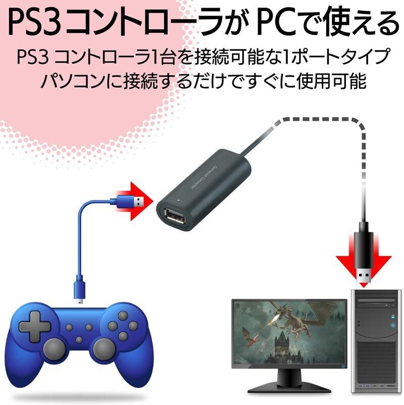 PS3コントローラ対応ゲームパッドコンバータ,JC-P301UBK