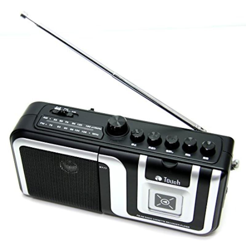 Touch ,AM/FMラジオ カセットレコーダー,st-056