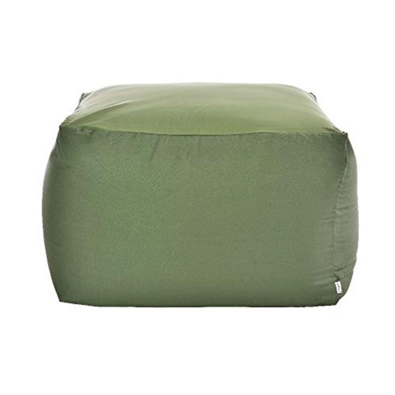 フレックス販売(fpc),ビーズクッション アースカラーキューブチェア Lサイズ グリーン,PCM-6512T