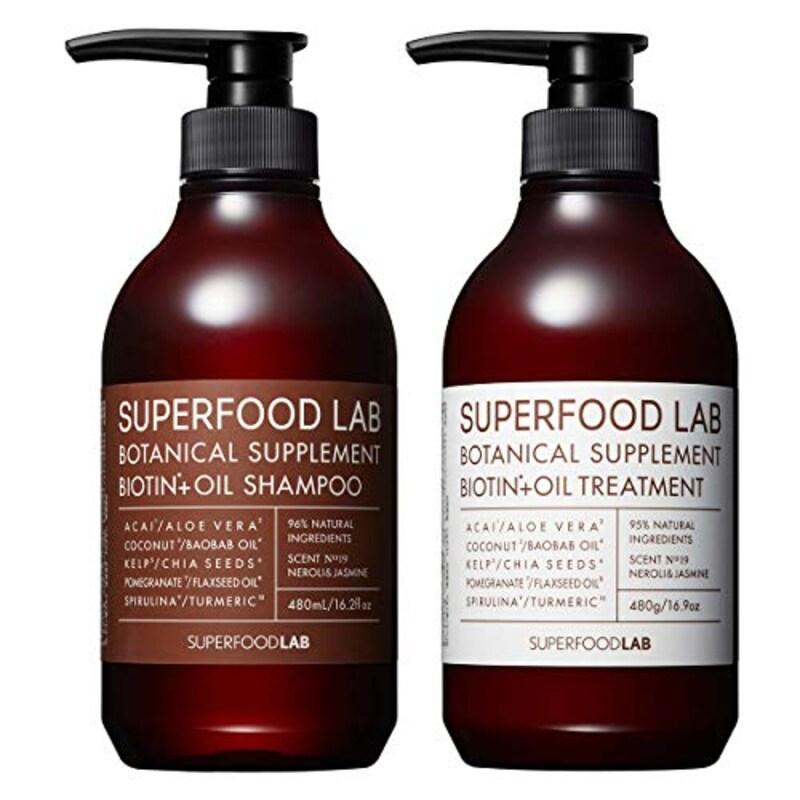 THE SUPERFOOD LAB(スーパーフードラボ),BIOTIN+OIL SHAMPOO&TREATMENT
