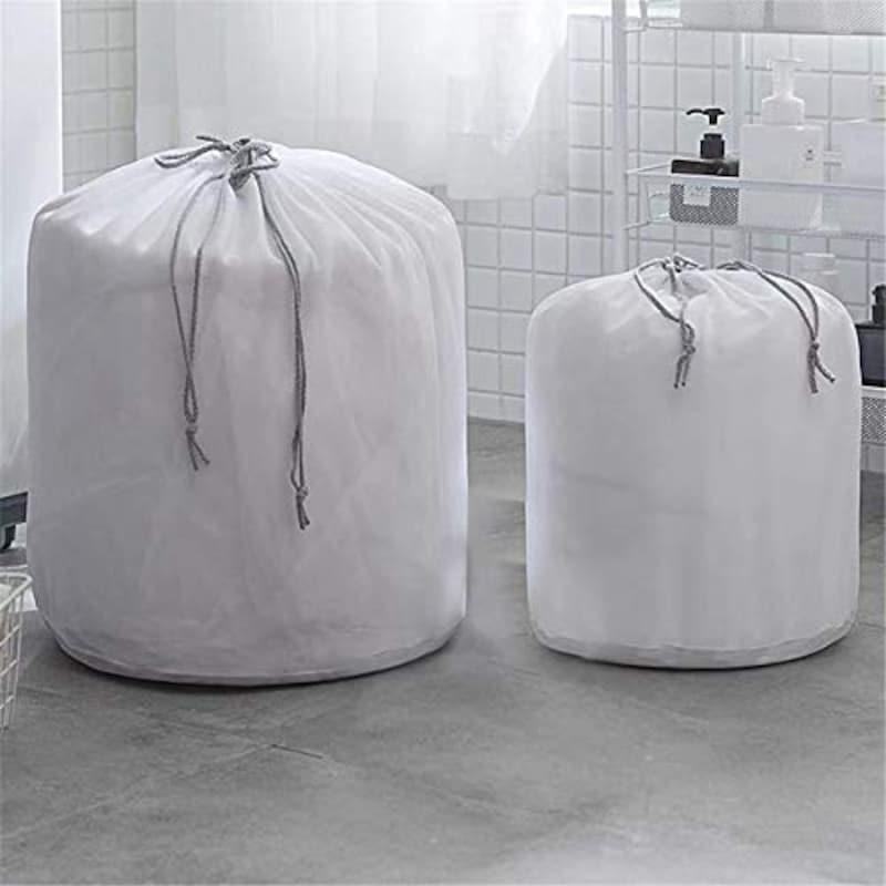Vertrage,洗濯ネット 2枚セット 巾着型 寝具用