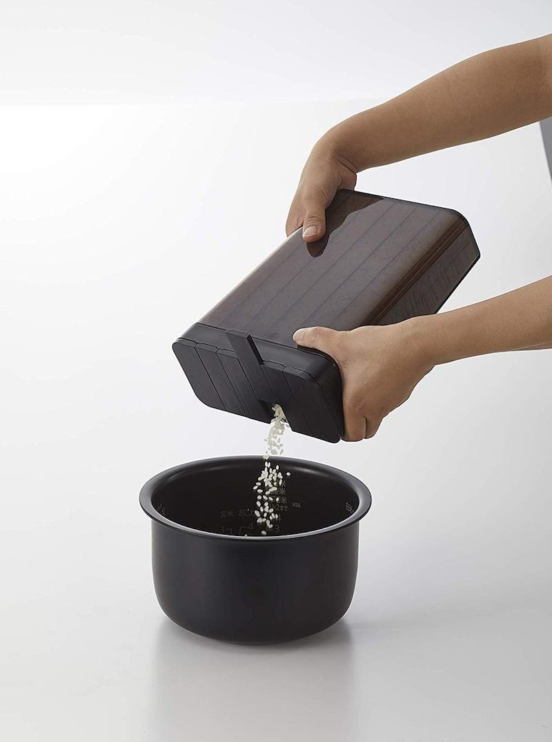 山崎実業(Yamazaki),ライスストッカー スライド式 1合分別 冷蔵庫用米びつ,3761