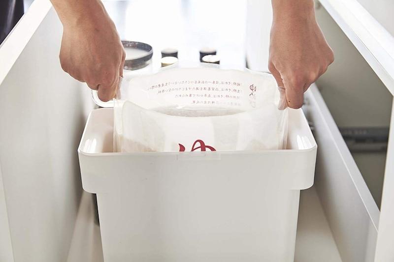 山崎実業(Yamazaki),密閉 袋ごと米びつ