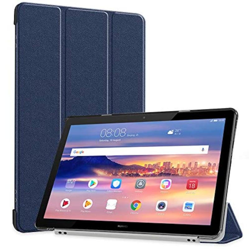 TopACE,MediaPad T5 10 保護カバー(ブルー),Cases-MediaPad T5 10-Cs-Blu