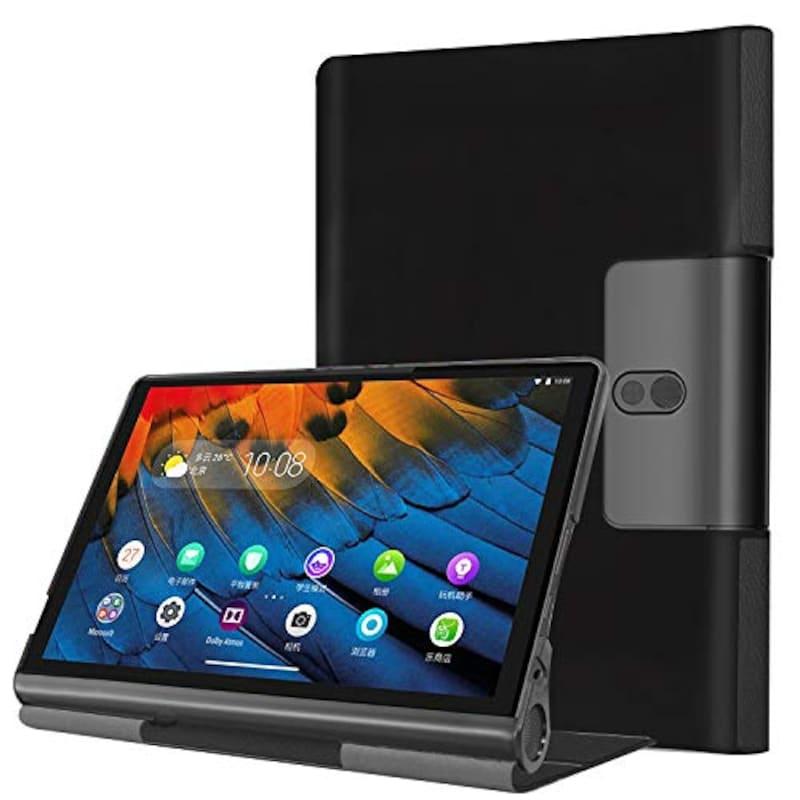 Pysea,Lenovo Yoga Smart Tab タブレットケース(ブラック),Yoga-B