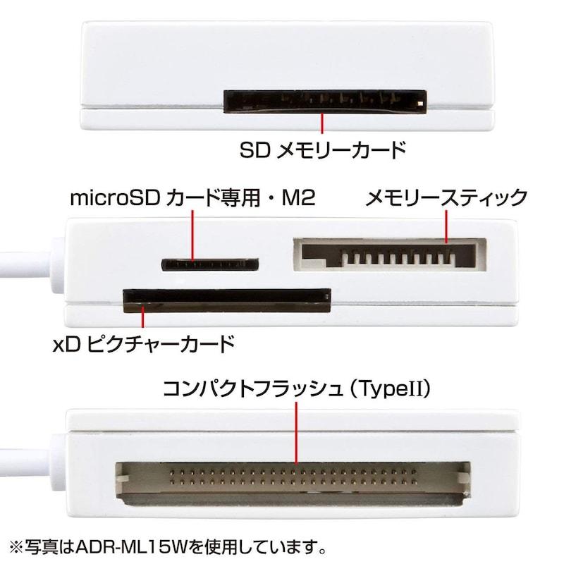 サンワサプライ,USB2.0 カードリーダー,ADR-ML15