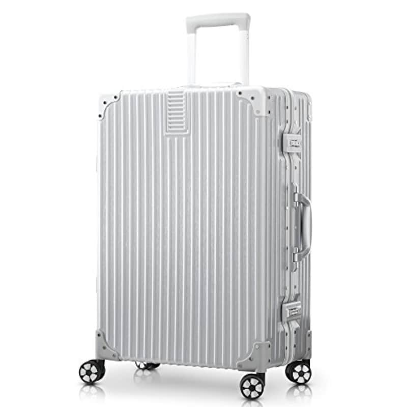 TABITORA(タビトラ),スーツケース シルバー,60180-silver-XL