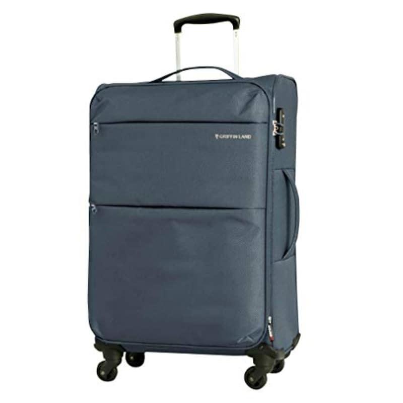 クギマチ,GRIFFIN LAND(グリフィンランド)ソフトスーツケース グレー,AIR6327