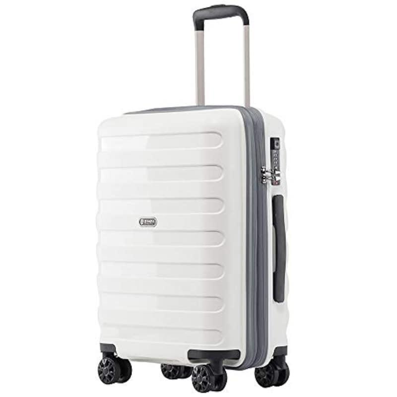 kroeus(クロース),PP100%ボディ スーツケース ホワイト,P7012-24-White