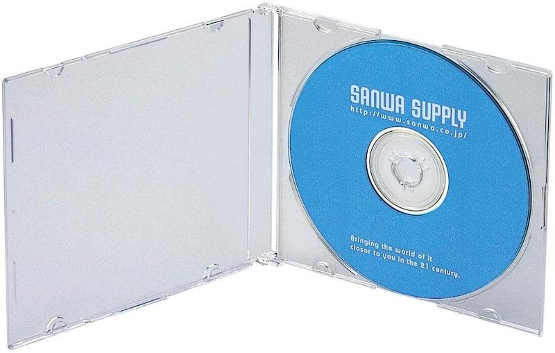 サンワサプライ ,1枚収納×50枚セット スリムBD/DVD/CDケース ,FCD-PU50C