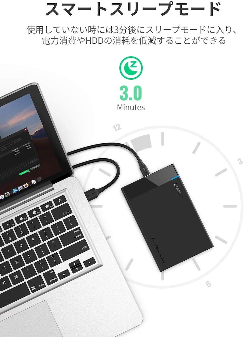 UGREEN,2.5インチHDD/SSDケース,50743JP