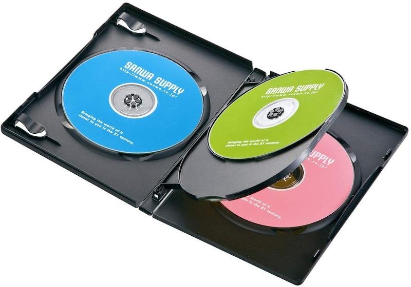 サンワサプライ,DVDトールケース 4枚収納×10,DVD-TN4-10BK