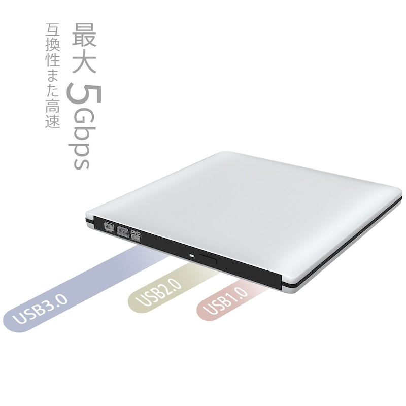 VersionTek,ポータブルDVDドライブ,CD009