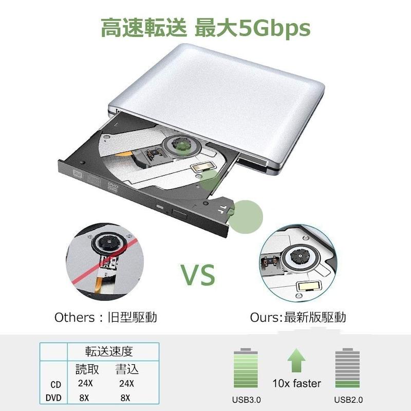 Version Tek,外付けDVDドライブ,VT-CD009