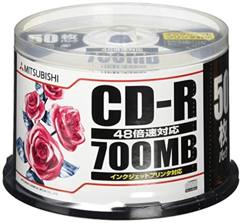 三菱ケミカルメディア,CD-R 700MB,SR80PP50