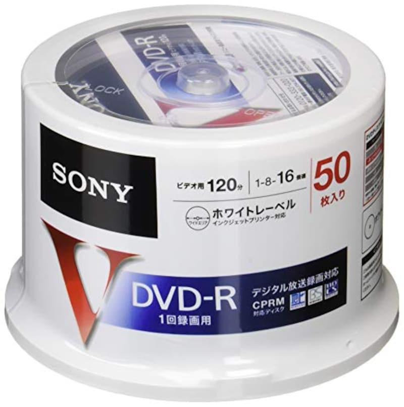 ソニー(SONY),録画用DVD-R CPRM対応 120分 16倍速 50枚パック,50DMR12MLPP